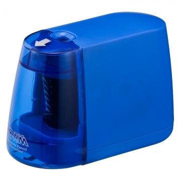 電動えんぴつ削り 乾電池式 ブルー [品番]00-5155