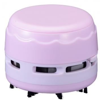 卓上そうじ機 乾電池式 ピンク [品番]00-5158