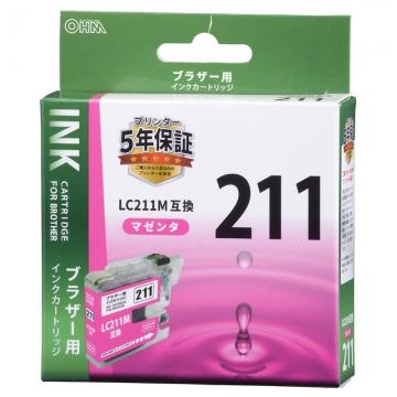 ブラザー互換 LC211M 染料マゼンタ [品番]01-4272