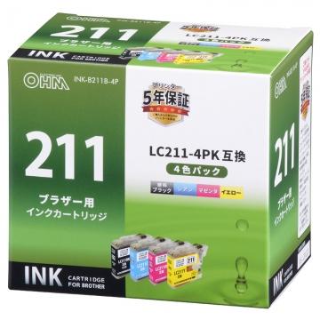 ブラザー互換 LC211-4PK 4色パック [品番]01-4274