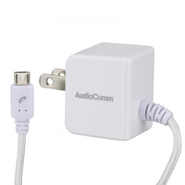 AudioComm マイクロUSB ACチャージャー 2.4A [品番]03-3064