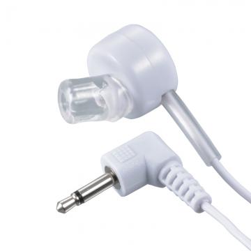 片耳モノラルイヤホン φ2.5 L型 ラジオ用 1m 白 [品番]03-3162