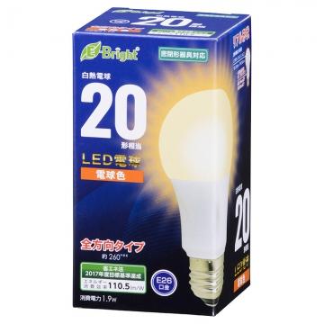LED電球 E26 20形相当 電球色 [品番]06-0683