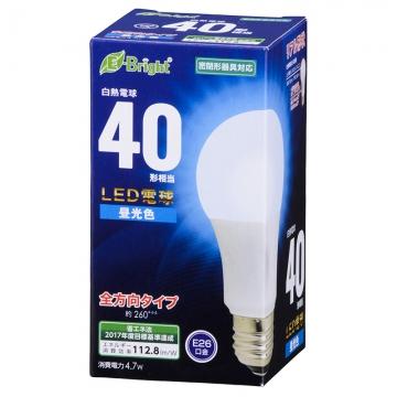 LED電球 E26 40形相当 昼光色 [品番]06-0686