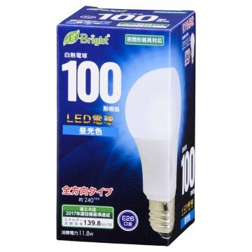 LED電球 一般電球形 100形相当 E26 昼光色 [品番]06-0690