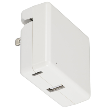 USB ACアダプター Type-C+Type-A [品番]01-0470