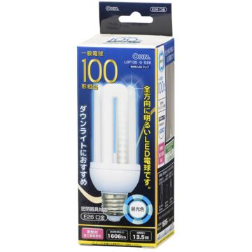 LED電球 D形 100W形相当 昼光色 E26 [品番]06-1685