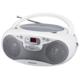 AudioComm CDラジオ シルバー [品番]07-8847