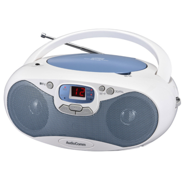AudioComm CDラジオ ブルー [品番]07-8849