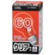 白熱電球 E26 60W クリア [品番]06-0641