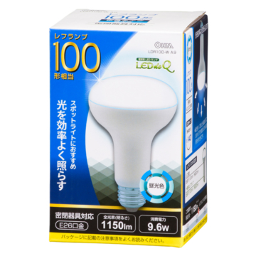 LED電球 レフランプ形 100形相当 E26 昼光色 [品番]06-0792