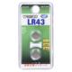 Vアルカリボタン電池 LR43 2個入 [品番]07-9977