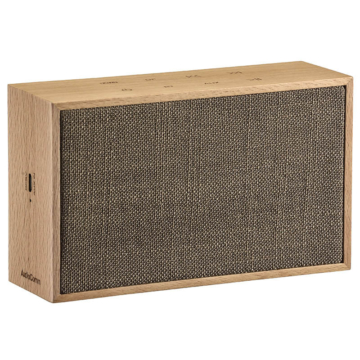 AudioComm ワイヤレススピーカー 木製・麻 ベージュ [品番]03-3183