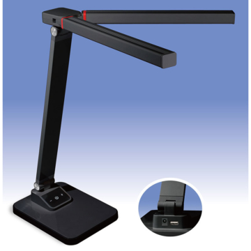 LED調光式デスクライト USB充電機能付 ブラック [品番]06-0117