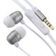 AudioComm ステレオイヤホン マイク・音量調節付 シルバー [品番]03-2255
