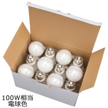 LED電球 E26 100形相当 電球色 密閉器具対応 全方向 12個入 [品番]06-0703