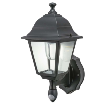monban LEDセンサーライト 乾電池式 ブラック [品番]07-8973