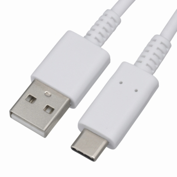 USBケーブル Type-C 15cm 白 [品番]01-7075