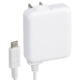 AC充電器 USB Type-C一体型 2.4A 白 1.5m [品番]01-7081