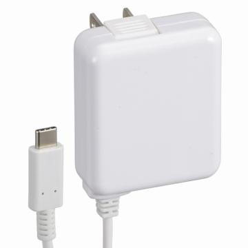 AC充電器 USB TypeC一体型 3A 白 1.5m [品番]01-7085