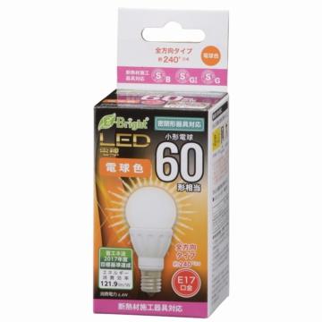LED電球 小形 60形相当 E17 電球色 [品番]06-0721