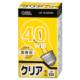 白熱電球 E26 40形相当 クリア 長寿命 [品番]06-0551
