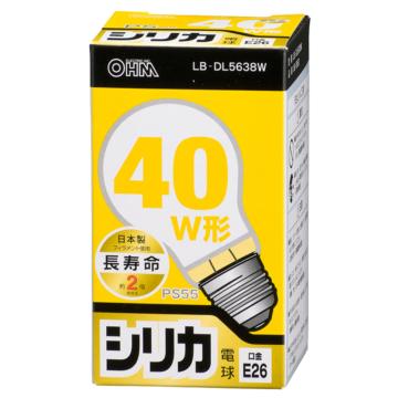 白熱電球 E26 40W形相当 シリカ 長寿命 [品番]06-0552