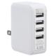 ACアダプター USB電源タップ 4ポート ホワイト [品番]01-3745