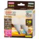 LED電球 ミニクリプトン形 E17 60形相当 防雨タイプ 電球色 2個入 [品番]06-1891