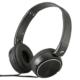 AudioComm コンパクトヘッドホン ブラック  [品番]03-2804
