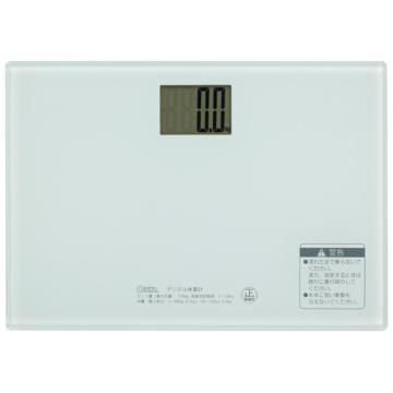 デジタル体重計 ホワイト [品番]08-0077