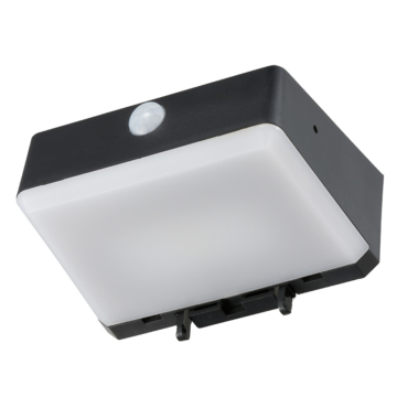 LEDセンサーウォールライト ソーラー発電式 アラーム音連動 [品番]08-0535