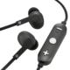 AudioComm ワイヤレスイヤホン コントローラー付 グレー [品番]03-1676