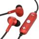 AudioComm ワイヤレスイヤホン コントローラー付 レッド [品番]03-1677