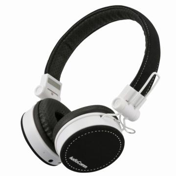 AudioComm Bluetoothステレオヘッドホン ブラック [品番]03-1693
