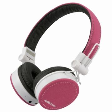 AudioComm Bluetoothステレオヘッドホン ピンク [品番]03-1694