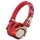 AudioComm Bluetoothステレオヘッドホン レッド [品番]03-1698