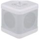 AudioComm ワイヤレスキュービックスピーカー ホワイト [品番]03-3177