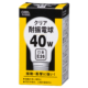 耐震電球 E26 40W クリア [品番]06-0581