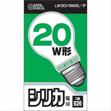 白熱電球 E26 20W形 ホワイト [品番]06-1754