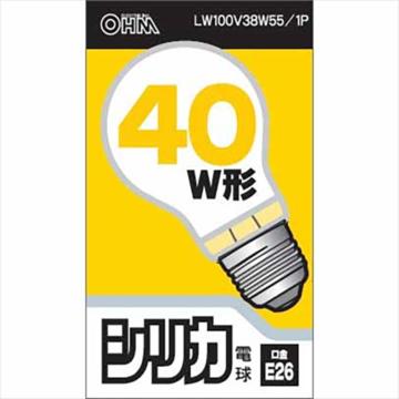 白熱電球 E26 40W形 ホワイト [品番]06-1755