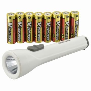 LED懐中ライト 65ルーメン 電池付 [品番]08-3160