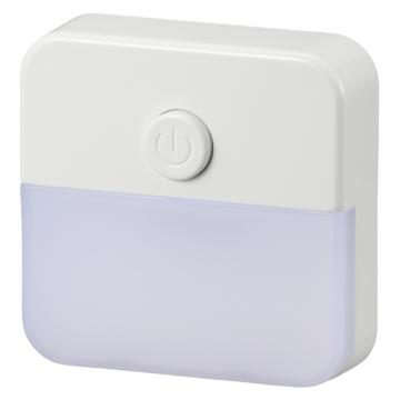 スイッチ式ナイトライト 白色LED [品番]06-0629