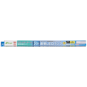 直管LEDランプ 20形相当 G13 昼光色 グロースタータ器具専用 片側給電仕様[品番]06-0916