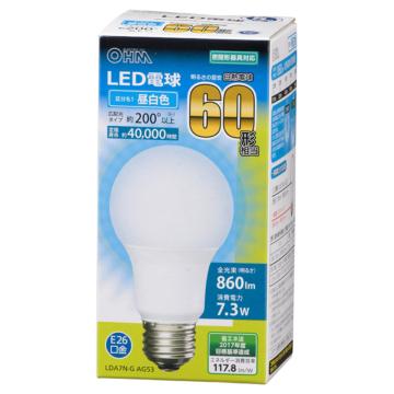 LED電球 E26 60形相当 昼白色 [品番]06-3084