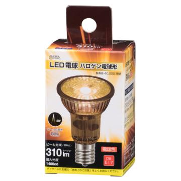 LED電球 ハロゲン電球形 E17 中角 電球色 [品番]06-3403