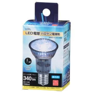LED電球 ハロゲン電球形 E17 中角 昼光色 [品番]06-3404