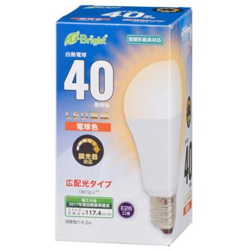 LED電球 E26 40形相当 電球色 [品番]06-3617