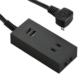 USBポート付安全タップ 2個口 2.5m 黒 [品番]00-4400