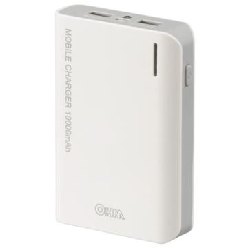 モバイルチャージャー 大容量10000mAh PSE適合品[品番]05-1193